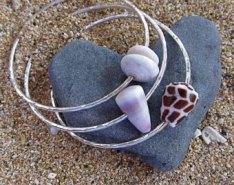 1. Shell bracelets