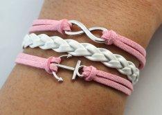 2. Pink cord bracelets